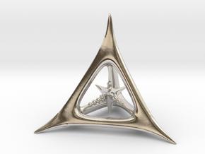 D4 in Rhodium Plated Brass