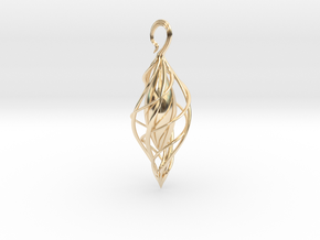 Spiral Seed 2 in 14k Gold Plated Brass