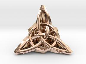 Celtic D4 in 14k Rose Gold Plated Brass