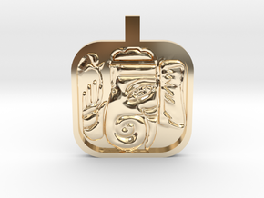 Ganesh Charm in 14k Gold Plated Brass