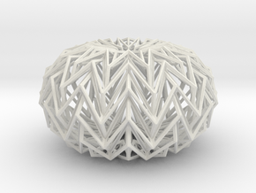 Decorative Ball based on a Twelve-pointed Star in White Strong & Flexible