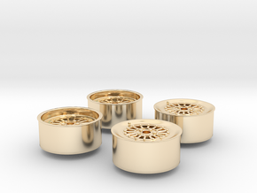 Rims For Scale 1-24 in 14k Gold Plated Brass