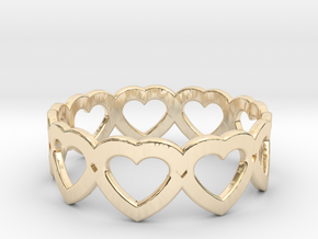 Heart Ring - Size 7 in 14K Yellow Gold