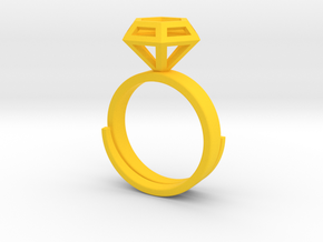 Diamond Ring US 7 3/4 in Yellow Strong & Flexible Polished