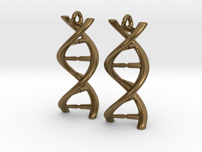 DNA Earrings in Natural Bronze