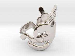 Run Rabbit Ring in Rhodium Plated Brass
