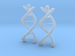 DNA Earrings in Smooth Fine Detail Plastic