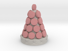 Macarons Tower in Full Color Sandstone