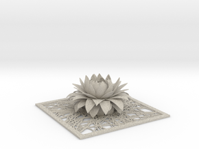 Aster flower decor element STL in Natural Sandstone