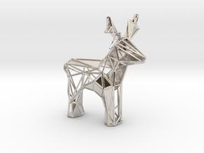 Reindeer toy stl in Rhodium Plated Brass