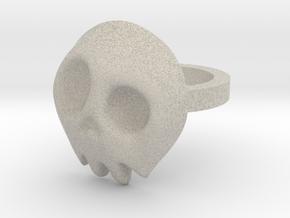 Comic Skull Ring in Natural Sandstone