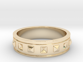 Ring with Studs in 14K Yellow Gold