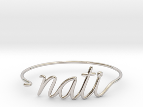 NATI Wire Bracelet (Cincinnati) in Rhodium Plated Brass
