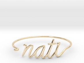 NATI Wire Bracelet (Cincinnati) in 14k Gold Plated Brass
