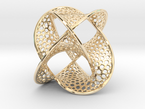 Borromean Rings Seifert Surface (5cm) in 14k Gold Plated Brass