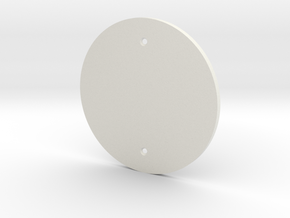 plodes® 1 Gang Blank Outlet Wall Plate in White Natural Versatile Plastic