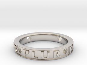 Plur Ring - Size 7 in Rhodium Plated Brass