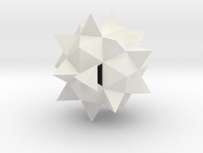 Duodecedron Abscisus Elevatus Solidus in White Natural Versatile Plastic