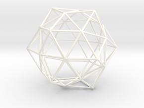 Duodecedron Elevatus Vacuus in White Processed Versatile Plastic