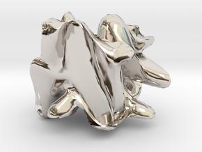 12407 in Rhodium Plated Brass