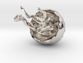 14564 in Rhodium Plated Brass