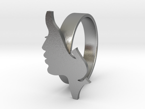 Facial ring -size 7 in Natural Silver