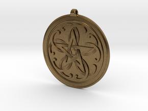 Celtic Pentagram Knot Pendant~44mm (1 3/4 inch) in Natural Bronze