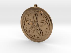 Celtic Pentagram Knot Pendant~44mm (1 3/4 inch) in Natural Brass