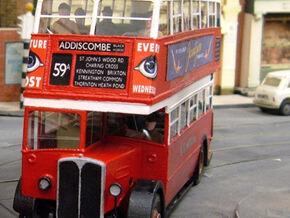 1:43 London Transport STL11-Body in White Natural Versatile Plastic