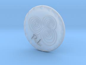 Golf Ball Marker Newgrange Spiral in Smooth Fine Detail Plastic