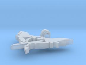 L.O.V.E pendant small size in Smooth Fine Detail Plastic