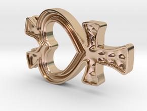 Sailor Mercury Symbol Pendant in 14k Rose Gold Plated Brass