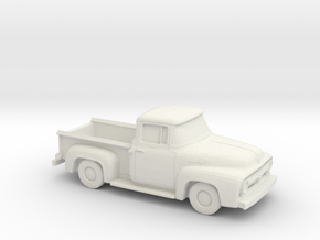 1/87 1956 Ford F100 in White Natural Versatile Plastic