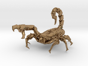 Skorpion 01 in Natural Brass
