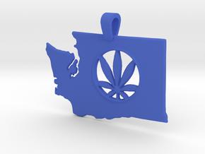 Washington State Pot Pendant in Blue Processed Versatile Plastic