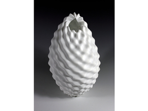 Pineapple Vase in White Natural Versatile Plastic