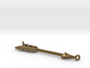 Arrow Pendant in Polished Bronze