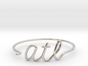 ATL Wire Bracelet (Atlanta) in Rhodium Plated Brass