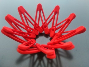 Expandable Bracelet XS in Red Processed Versatile Plastic