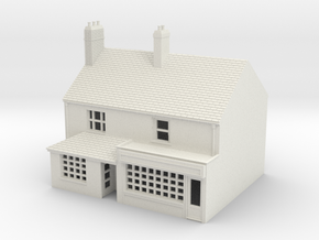 TFS-20 N Scale Topsham Fore Street building 1:148 in White Natural Versatile Plastic