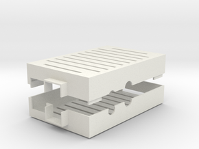 Raspberry Pi Case in White Natural Versatile Plastic