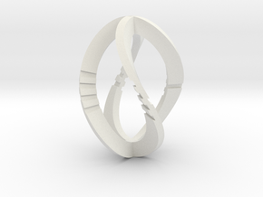 Modern Art D4 / 4-Sided Die in White Natural Versatile Plastic