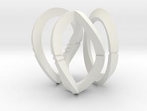 Modern Art Dice Set (Unusual Denominations) in White Natural Versatile Plastic