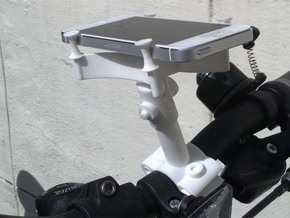 Cycle Bracket Camera Smartphone Mount in White Strong & Flexible