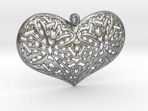HeartPendantV1 PE33s1 46x31h55 in Natural Silver