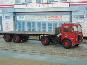 1:43 Bristol c1954  HA6  24t Tractor & Trailer  in White Natural Versatile Plastic