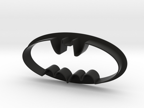Batman Cookie Cutter in Black Natural Versatile Plastic