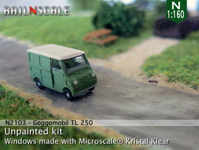 Goggomobil Transporter (N 1:160) in Smooth Fine Detail Plastic