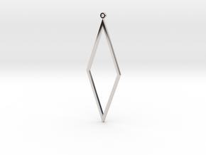 Rhombus Earrings in Rhodium Plated Brass