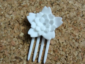 Sakura Star Mini Comb  in White Strong & Flexible